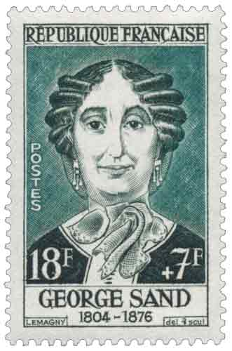 Timbre : GEORGE SAND 1804-1876