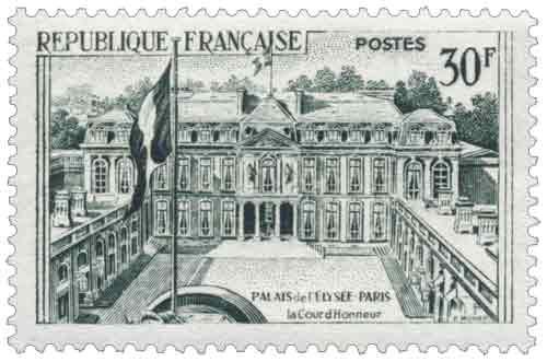 Palais de l'Élysée à Paris - La Cour d'honneur