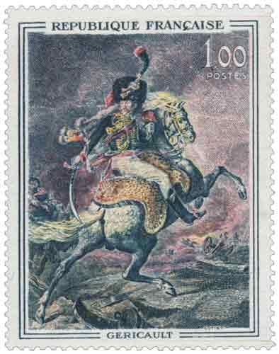 « Officier de chasseurs », œuvre de Théodore Géricault (1791-1824), né à Rouen