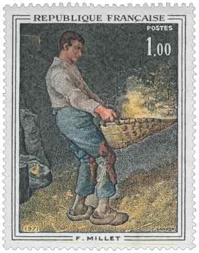 Le Vanneur, œuvre de Jean-François Millet