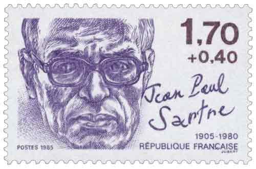 Jean-Paul Sartre (1905-1980), philosophe et écrivain, né à Paris