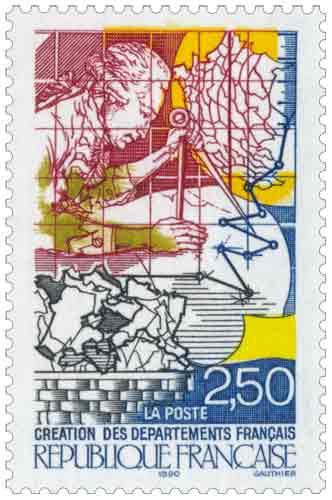 Bicentenaire de la révolution. Création des départements français