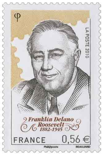 150e Anniversaire de la bourse aux timbres Franklin Delano Roosevelt (1882-1945)