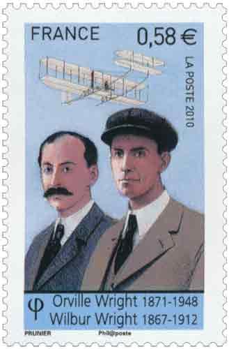 Pionniers de l'aviation : Orville Wright (1871-1948) et Wilbur Wright (1867-1912)