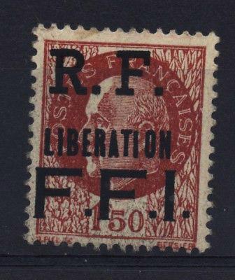 LIBÉRATION PARIS FFI ** 1f50 brun surchargé